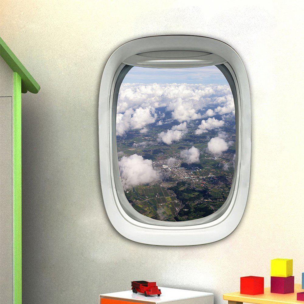 3D Wall Sticker Sky Ground Building Beautiful Landscape Decoration XQ030017 - multicolor 1PC