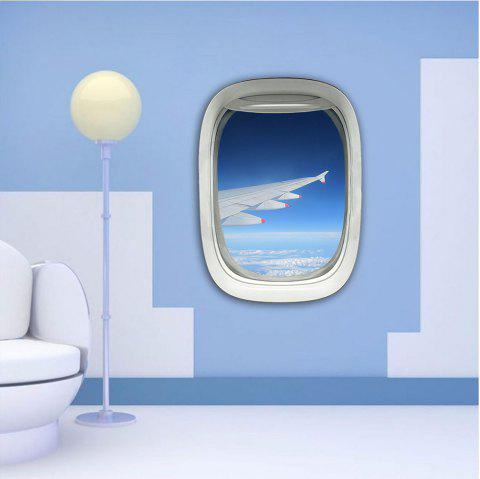 3D Wall Sticker Sky Ground Building Beautiful Landscape Decoration XQ030020 - multicolor 1PC