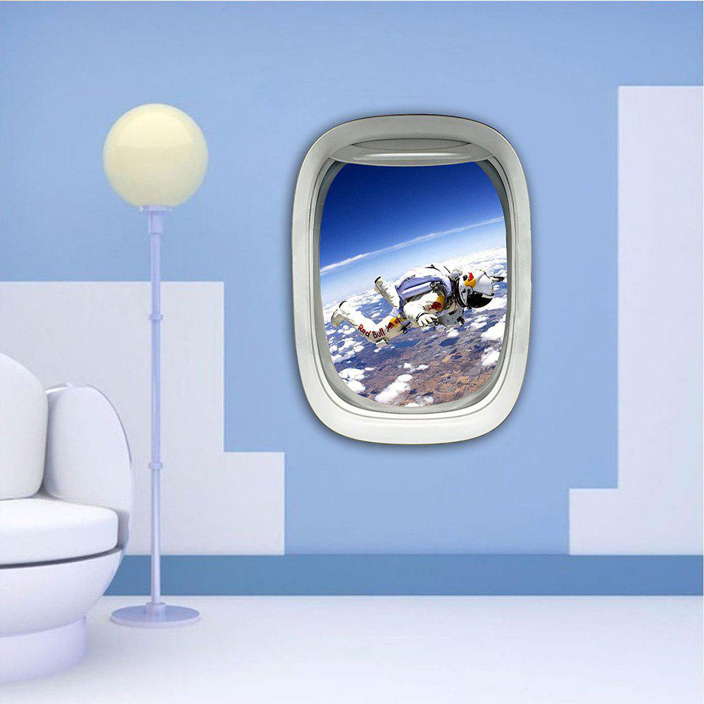 3D Wall Sticker Sky Ground Building Beautiful Landscape Decoration XQ030024 - multicolor 1PC
