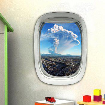 3D Wall Sticker Sky Ground Building Beautiful Landscape Decoration XQ030025 - multicolor 1PC