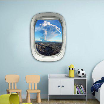 Sticker mural 3D Sky Ground Building Belle décoration de paysage XQ030025 - [