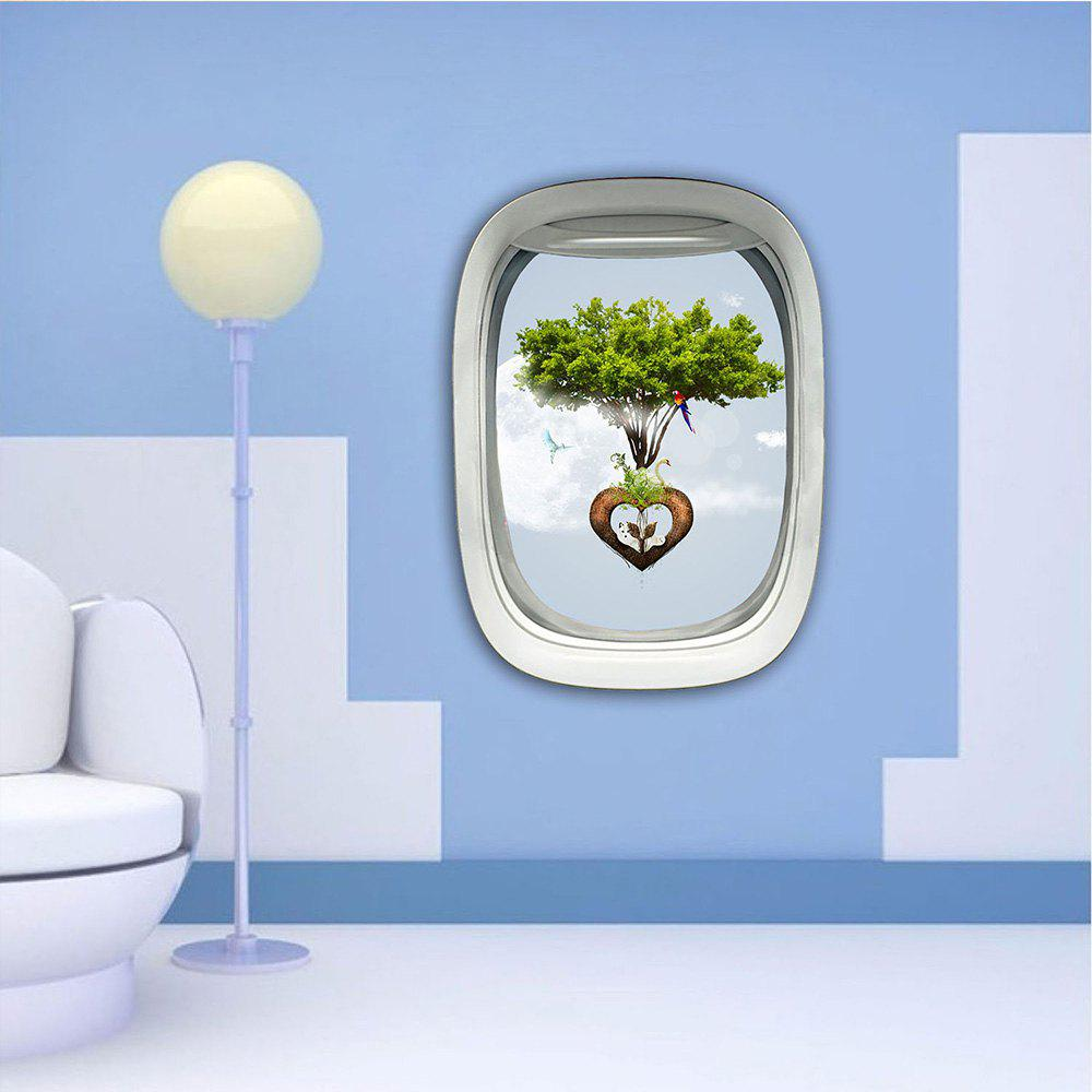 3D Wall Sticker Sky Ground Building Beautiful Landscape Decoration XQ030026 - multicolor 1PC