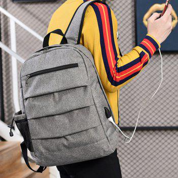 Backpack Simple Computer Student Bag - GRAY
