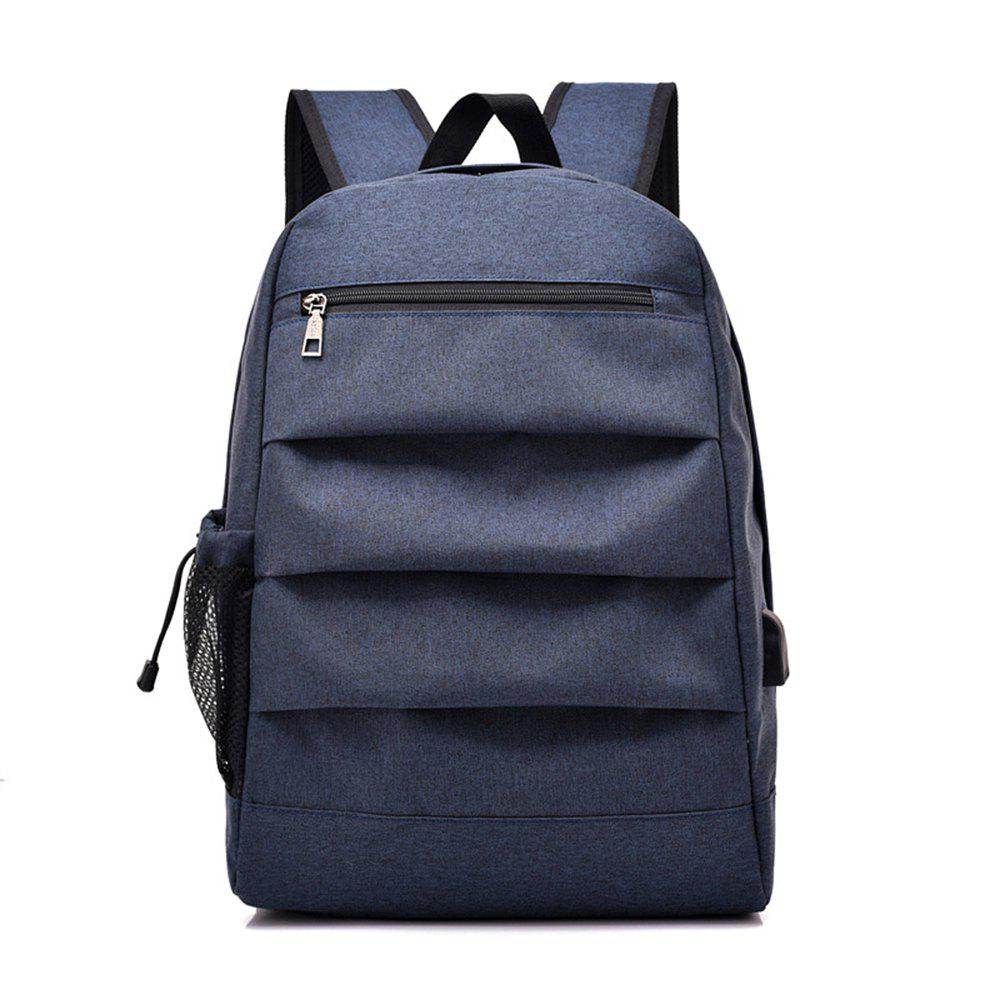 Backpack Simple Computer Student Bag - BLUE