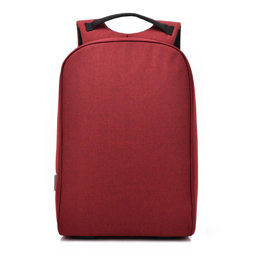 Backpack Multi-Function Anti-Theft Computer  Fashion Student Bag - RED WINE