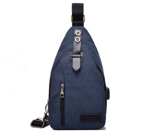 Youth Shoulder Chest Student Messenger Simple Sports Backpack - BLUE