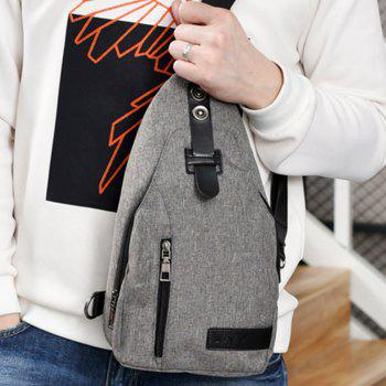 Youth Shoulder Chest Student Messenger Simple Sports Backpack - GRAY