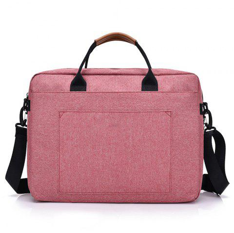 Briefcase High Capacity Laptop Shoulder Messenger Bag - CHERRY RED