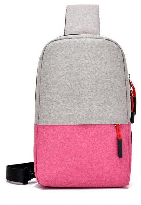 Multi Function Chest Collapsible Canvas Bag - VIOLET RED