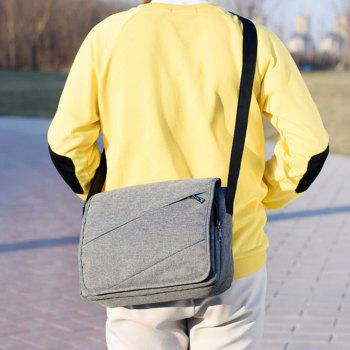 Messenger Canvas Cross Section Large Capacity Computer Bag - GRAY