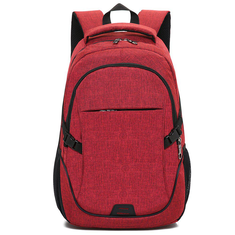 Backpack Large Student Computer Outdoor Bag - RED