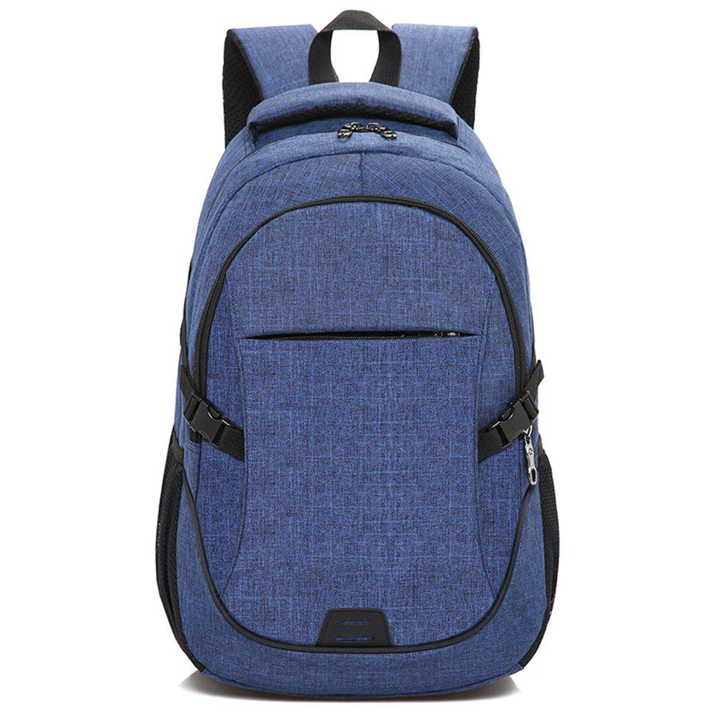 Backpack Large Student Computer Outdoor Bag - BLUE