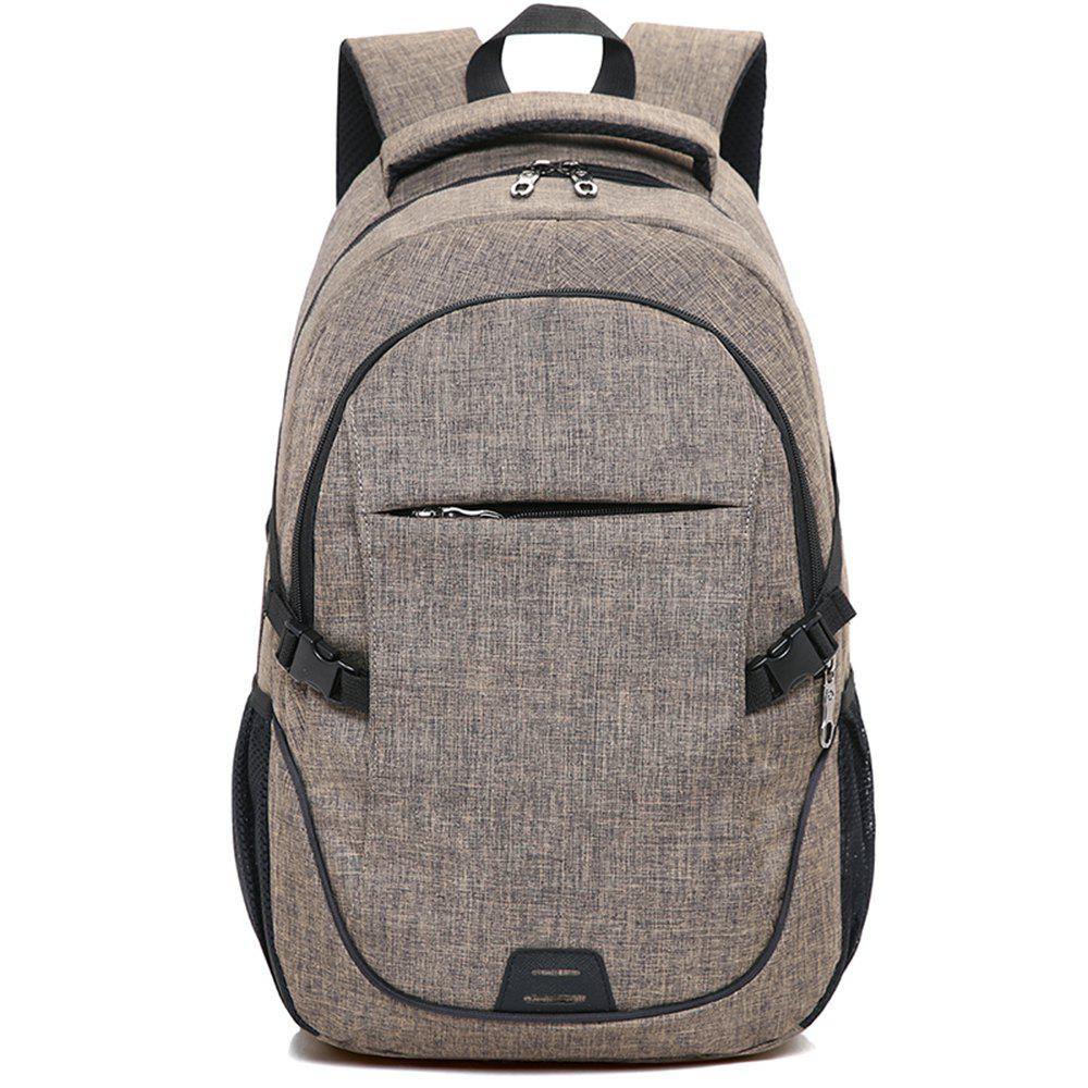 Backpack Large Student Computer Outdoor Bag - BROWN