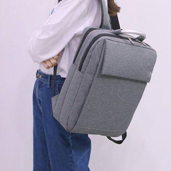 Computer Bag Notebook Student Backpack - GRAY