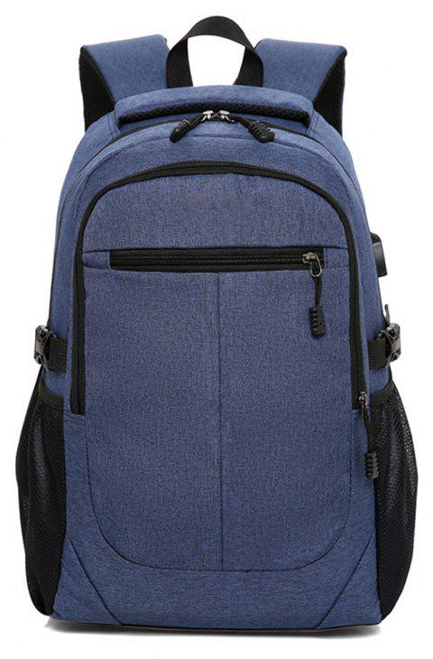 Cloth Computer Bag Large Capacity Backpack - BLUE