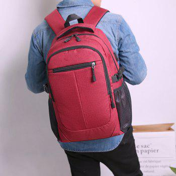 Cloth Computer Bag Large Capacity Backpack - RED WINE
