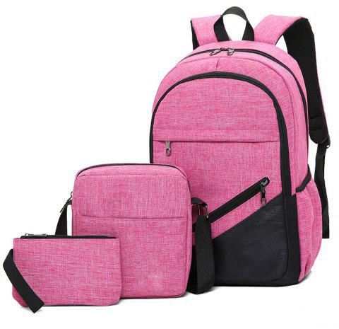 High-Capacity Student Bags Simple and Lightweight - VIOLET RED