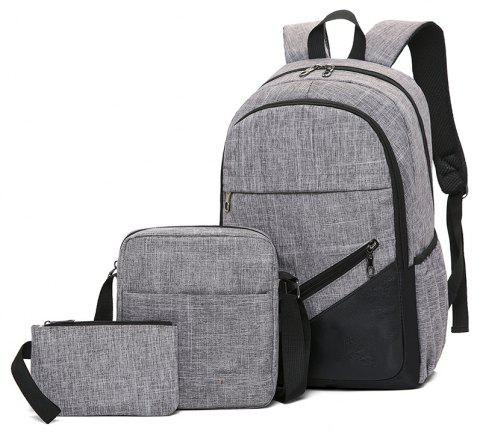 High-Capacity Student Bags Simple and Lightweight - GRAY