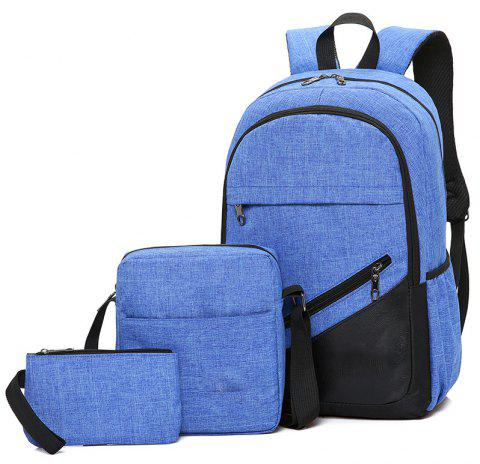 High-Capacity Student Bags Simple and Lightweight - SAPPHIRE BLUE
