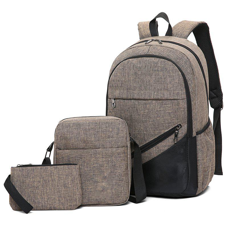 High-Capacity Student Bags Simple and Lightweight - COFFEE
