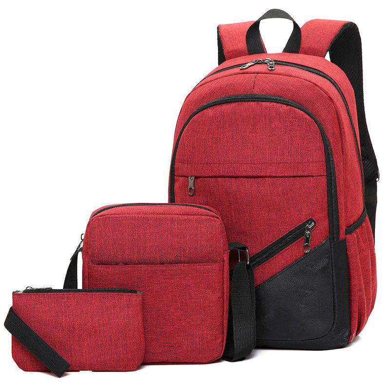 High-Capacity Student Bags Simple and Lightweight - RED