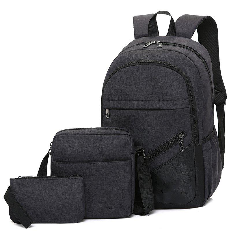 High-Capacity Student Bags Simple and Lightweight - BLACK