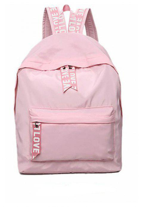 Shoulder Student Female Bag Solid Color Package - PINK
