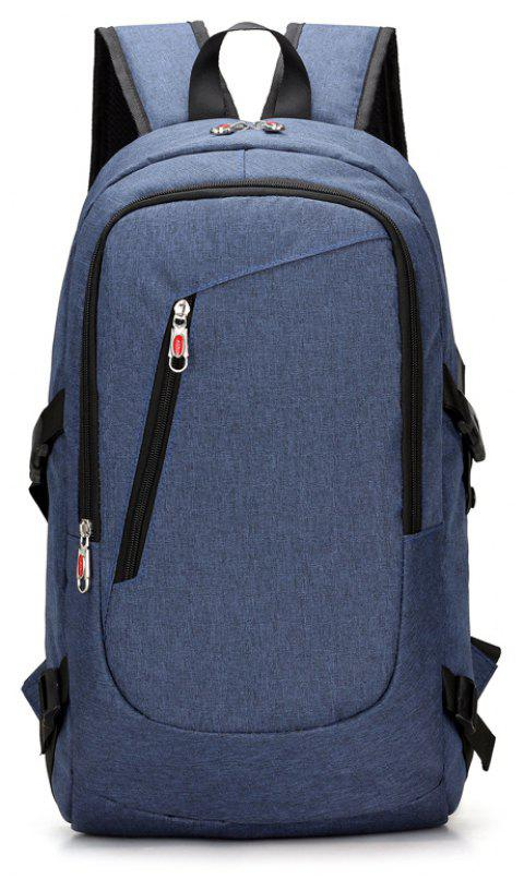 USB Rechargeable Backpack Computer  Student Bag - BLUE