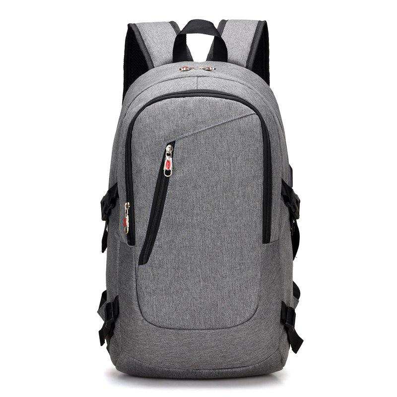 USB Rechargeable Backpack Computer  Student Bag - GRAY