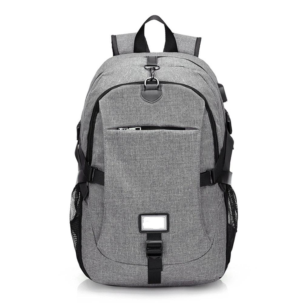 Anti-Theft Backpack Early Schoolbag External Charging Interface - GRAY