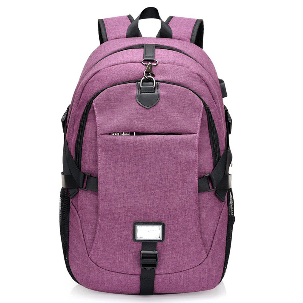 Anti-Theft Backpack Early Schoolbag External Charging Interface - VIOLET