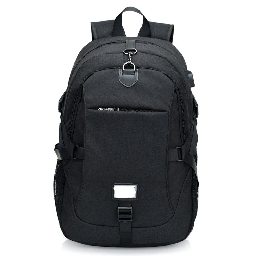 Anti-Theft Backpack Early Schoolbag External Charging Interface - BLACK