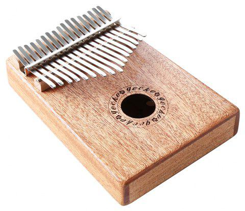 GECKO Kalimba Mbira Sanza 17 Keys Thumb Piano with Musical Notation - BURLYWOOD