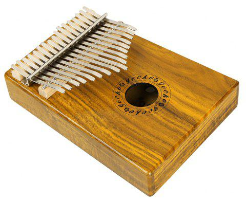 GECKO Kalimba Mbira Sanza 17 Keys Thumb Piano with Musical Notation Koa Wood - BURLYWOOD