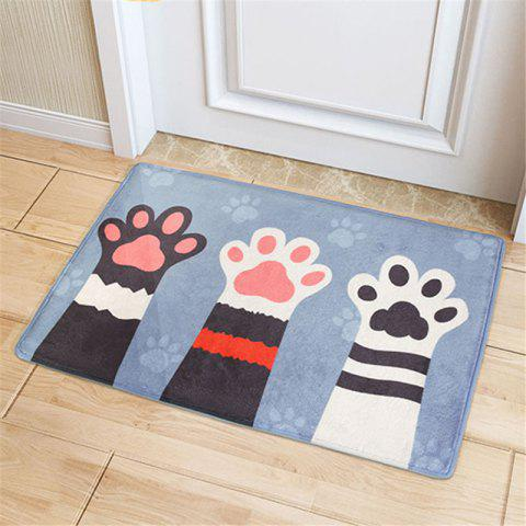 Cartoon Cute Cat Palm Doormats for Bedroom - GRAY