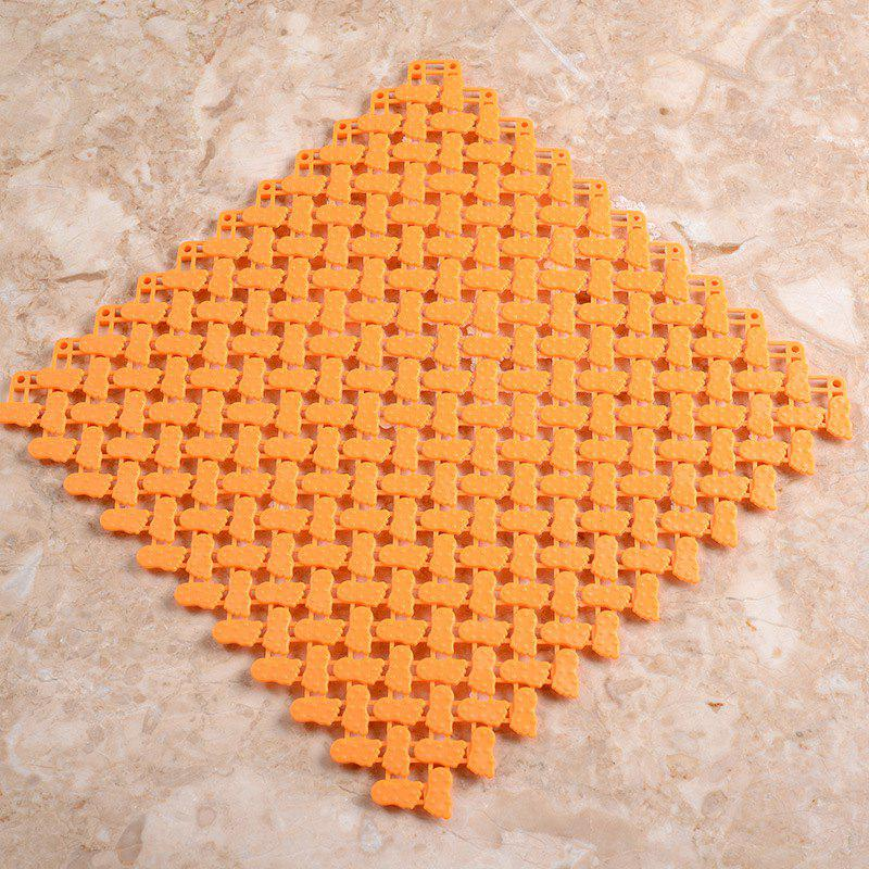 Small Plastic Bathroom Anti-slip Pad - ORANGE