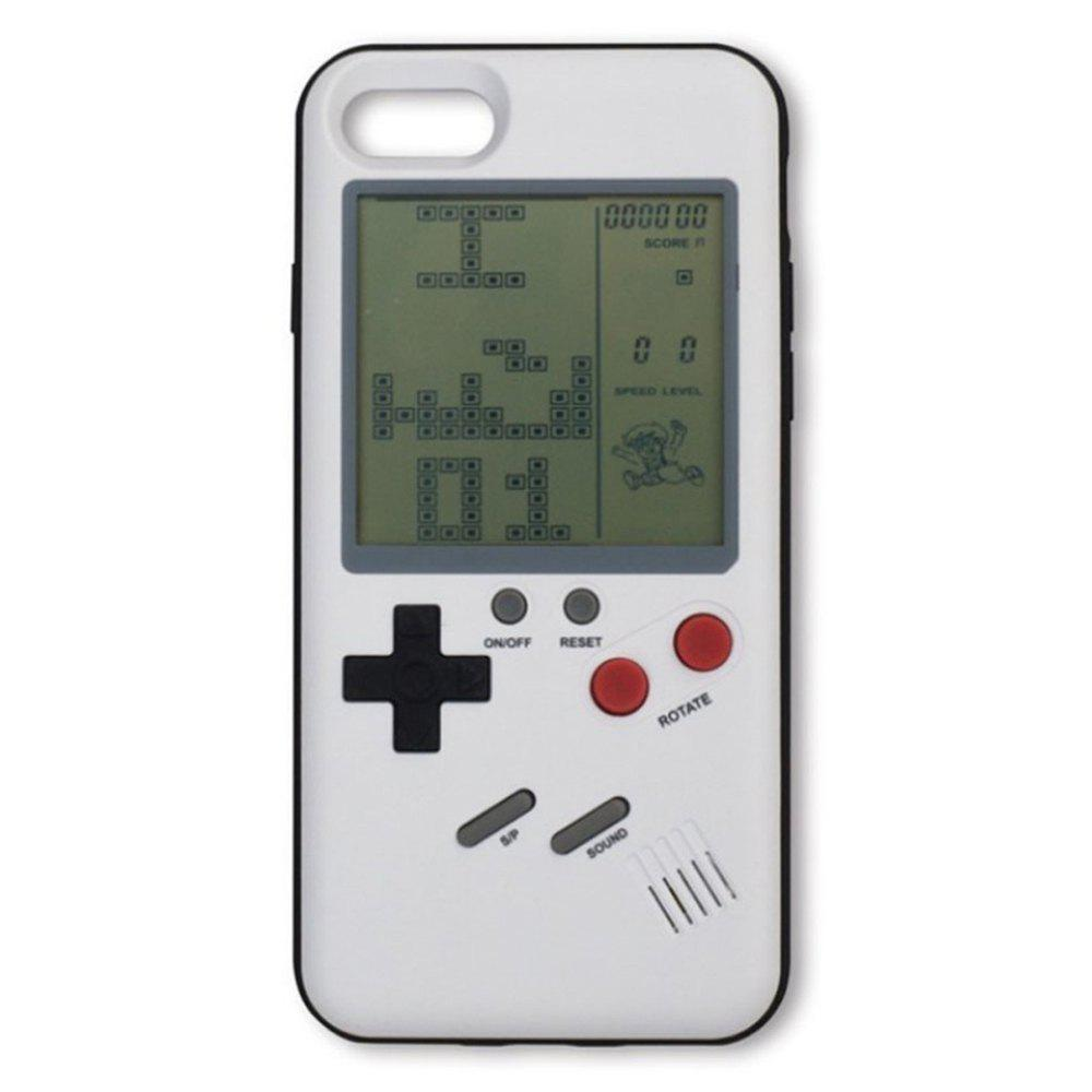 Tetris Cases Play Game Console Cover Protection for iphone 6 Plus / 6S Plus / 7 Plus / 8 Plus - WHITE