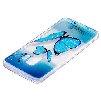 TPU Material Butterfly Pattern Painted Phone Case for Samsung Galaxy S9 - TRANSPARENT