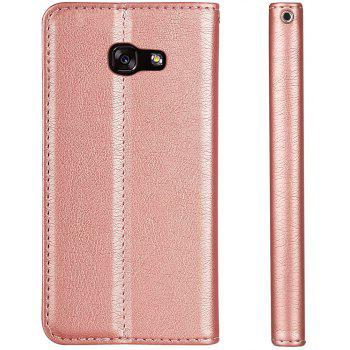 For Samsung Galaxy A7 2017 Business Leather Case Magnetic Closure Wallet Stand Cover - ROSE