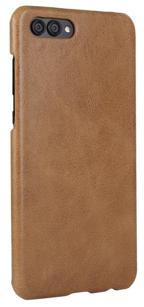 Wkae For Huawei Hornor V10 Case Frosted Genuine Leather Back Cover - CINNAMON