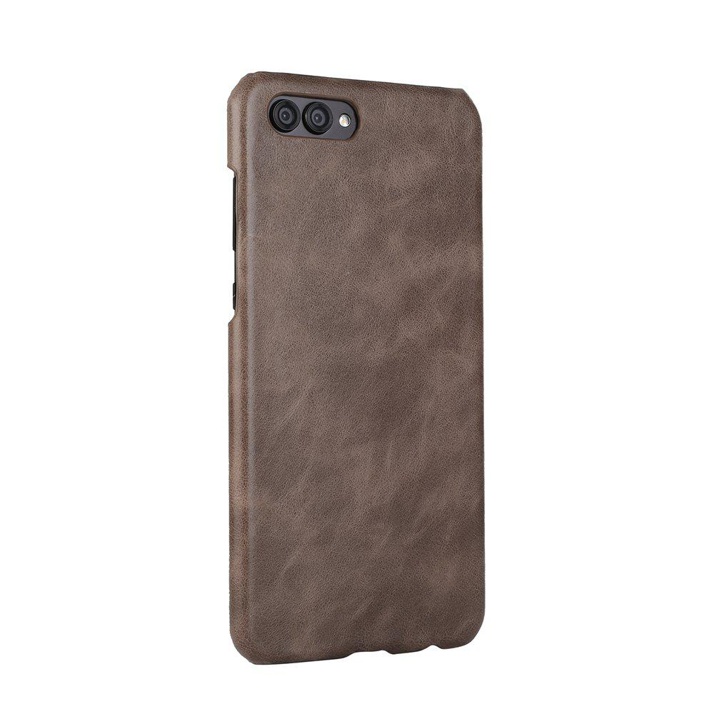 Wkae For Huawei Hornor V10 Case Frosted Genuine Leather Back Cover - GRAY