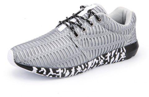 ZEACAVA Men's New Running Sneakers respirant chaussures de sport en plein air - Gris 39