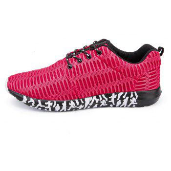 ZEACAVA Men's New Running  Breathable Sneakers Outdoor Sport Shoes - RED 39