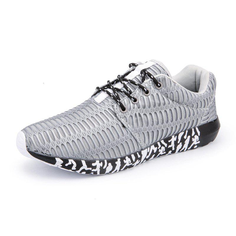 ZEACAVA Men's New Running  Breathable Sneakers Outdoor Sport Shoes - GRAY 47