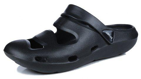 ZEACAVA Summer Men's Casual Sandals Lightweight Garden Shoes - BLACK 39