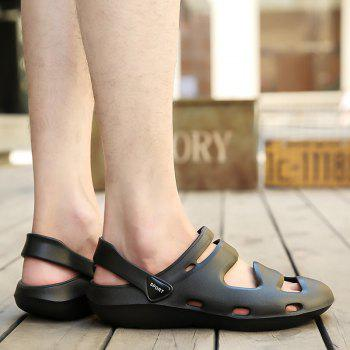 ZEACAVA Summer Men's Casual Sandals Lightweight Garden Shoes - BLACK 45