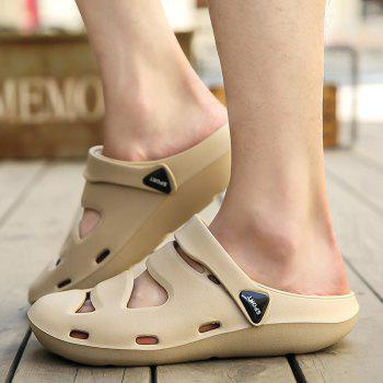 ZEACAVA Summer Men's Casual Sandals Lightweight Garden Shoes - CAMEL BROWN 42