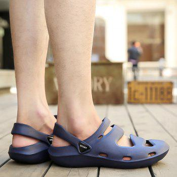 ZEACAVA Summer Men's Casual Sandals Lightweight Garden Shoes - SEA BLUE 39