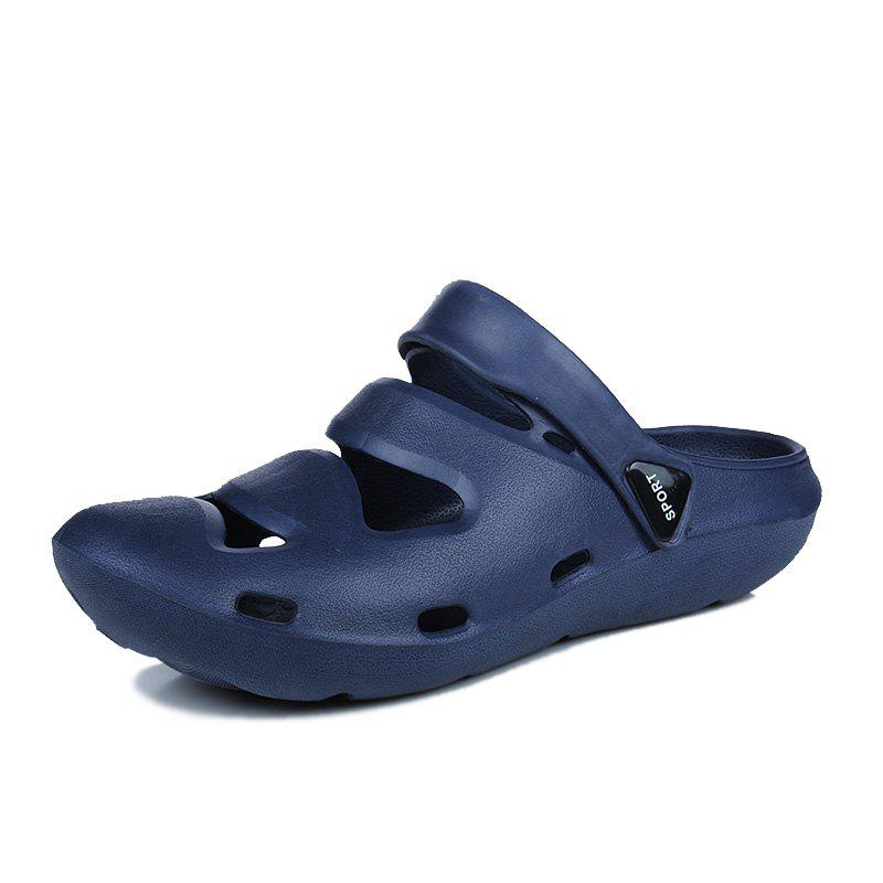 ZEACAVA Summer Men's Casual Sandals Lightweight Garden Shoes - SEA BLUE 44