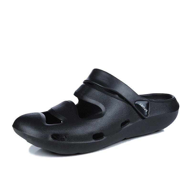 ZEACAVA Summer Men's Casual Sandals Lightweight Garden Shoes - BLACK 42